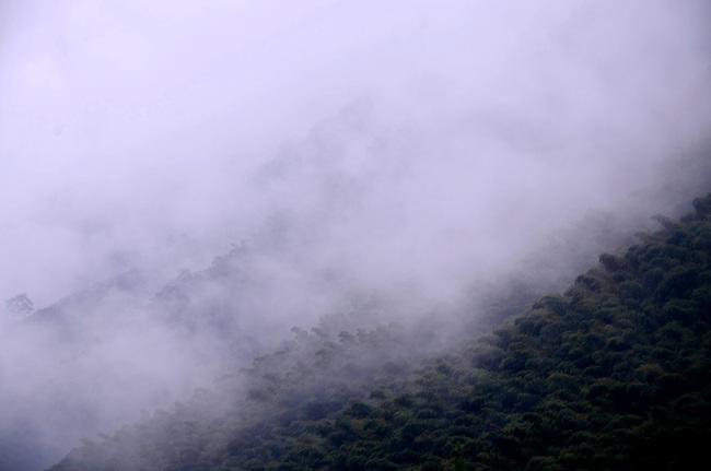 安顶山 雨中行